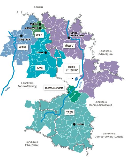Karte Betriebsführungsgebiet